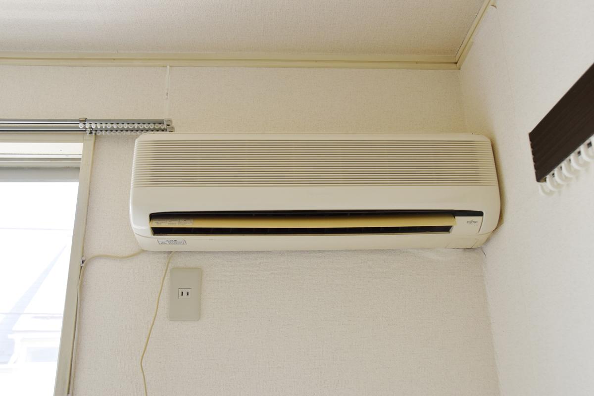 エアコン付き(新しいエアコンを設置しました)