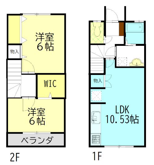 間取り図 ※図面と現況が異なる場合は、現況優先とします 2階洋室(ベランダがある部屋)はロフト付きです。